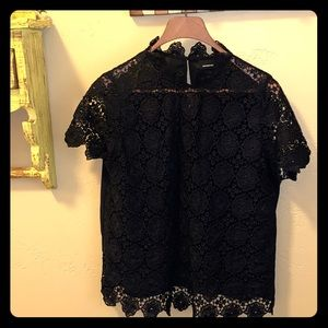 Who What Wear Black lace top